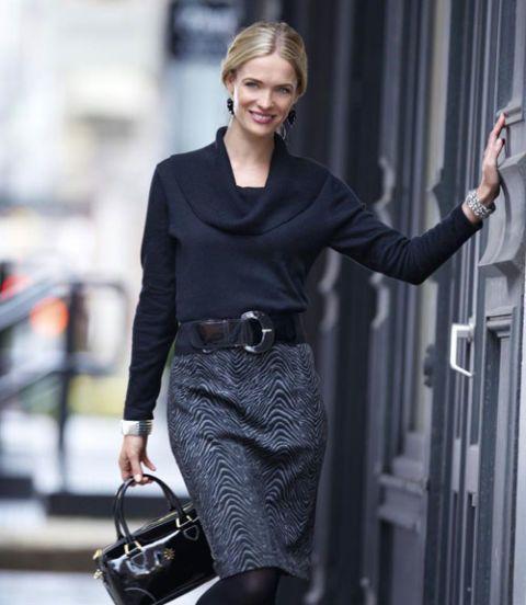 woman wearing animal print skirt