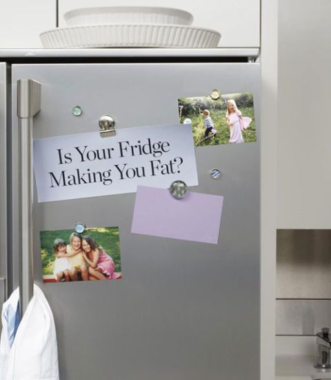 refrigerator with photos