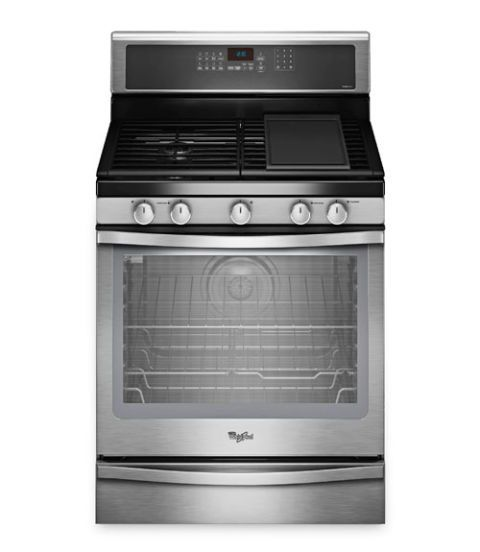 whirlpool gas range with convection wfg720h0as