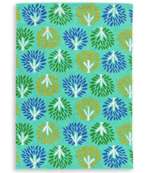 company c tree motif rug