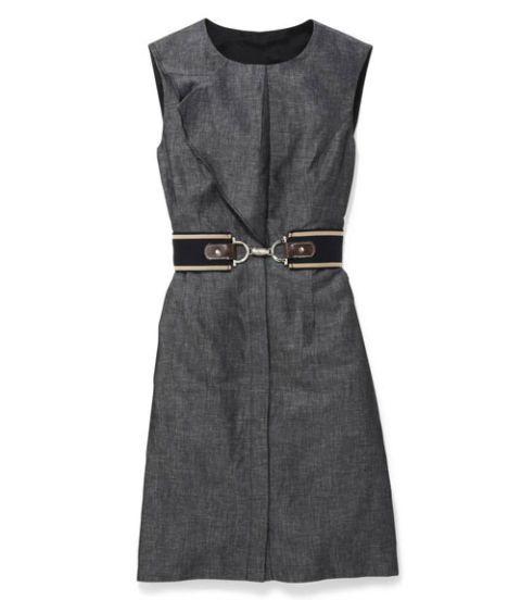 chambray dress and belt