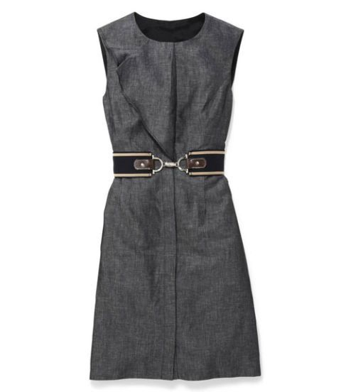 chambray dress and belt
