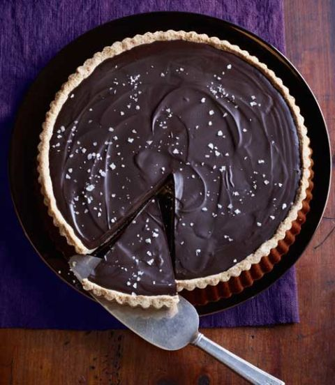 ganache tart with salted almond crust