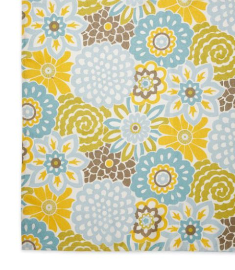 Bon Waverly Graphic Flowers Tablecloth