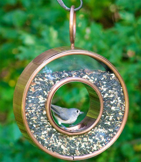 Good Directions Fly-Thru Bird Feeder in Venetian Bronze