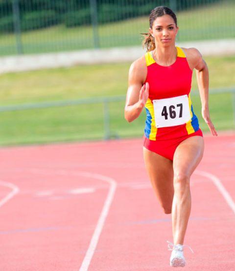 Woman Running Race