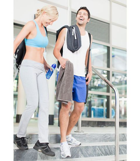 Couple Going to Gym