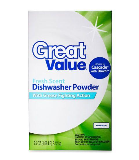 walmart great value dishwasher detergent