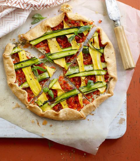 quick summery veggie tart