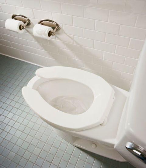 a running toilet