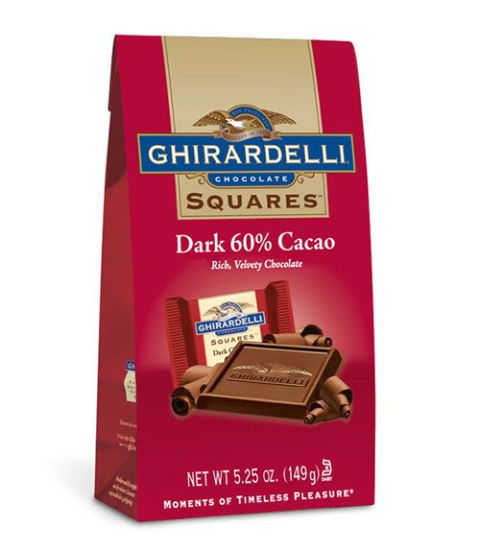 ghirardelli 60 percent dark chocolate squares