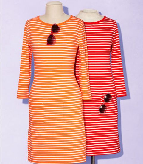 striped dresses and sunglasses