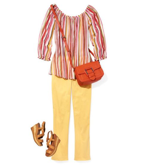 lemony capris striped tunic