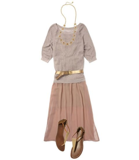 nude hues sweater over dress