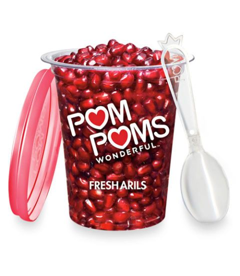 pom poms pomegranate seeds