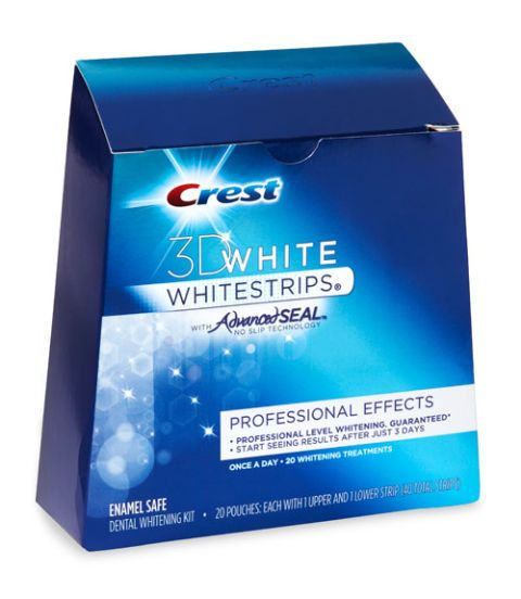 crest 3d white professional effects whitestrips with advanced seal technology