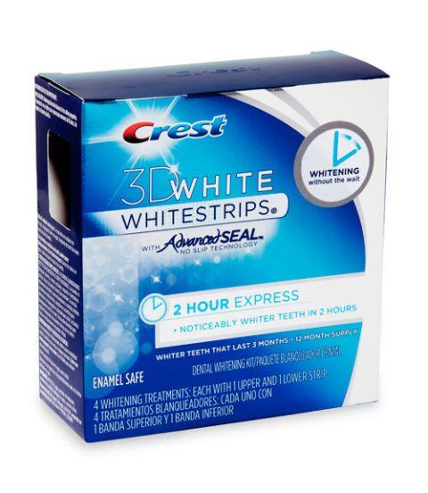crest 3d white 2 hour express whitestrips