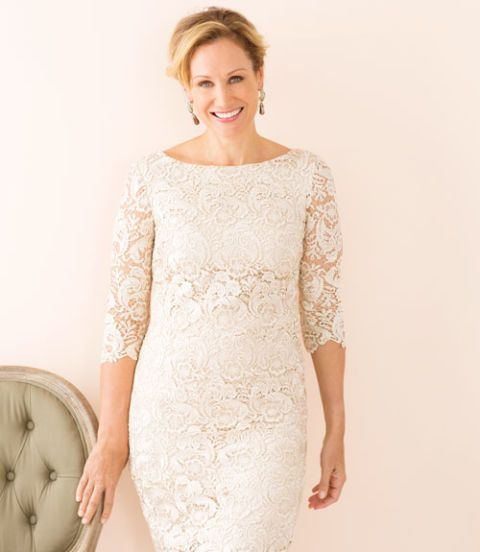 make me over champagne lace dress