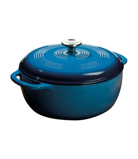 dutch oven lodge color porcelain enamel on cast iron