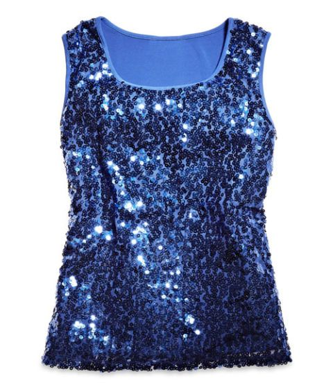 george sapphire sequined top