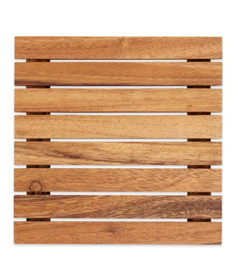 crate and barrel wood trivet
