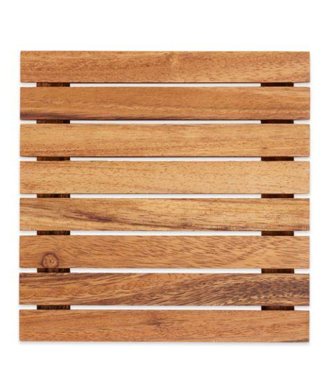 crate and barrel wood trivet
