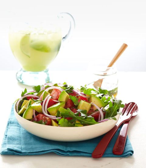 avocado salad with lime and cumin vinaigrette