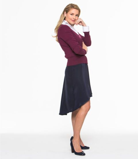 fall asymmetrical skirt