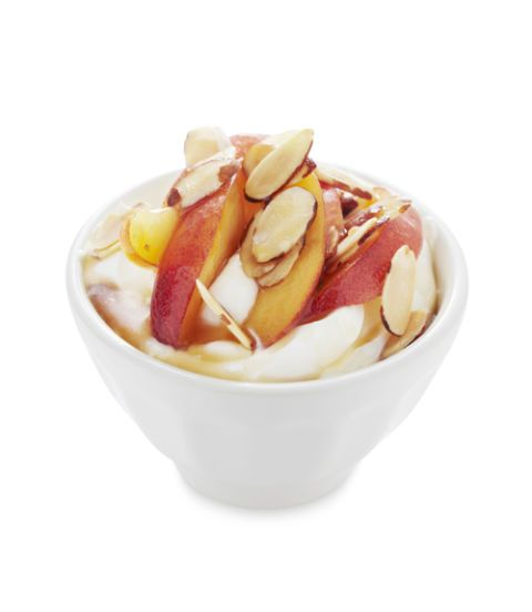 peach and toasted almond