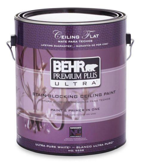 behr premium plus ultra interior stain blocking ceiling paint