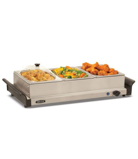 bella triple buffet server and warming tray