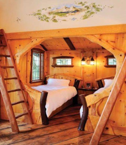 Wood, Hardwood, Room, Property, Bed, Interior design, Wood stain, Floor, Ceiling, Wood flooring,