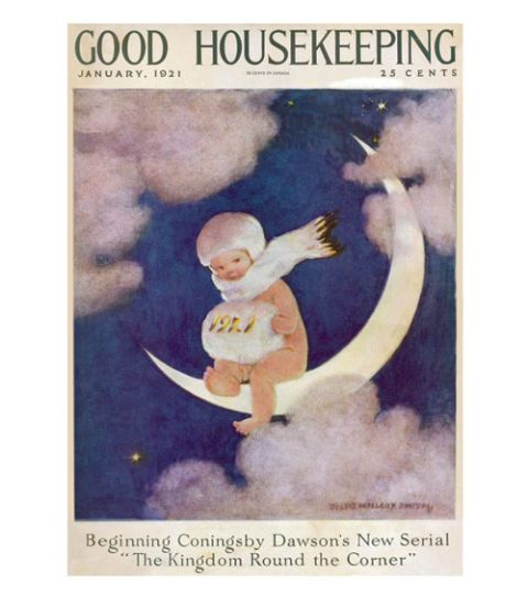 good housekeeping magazine cover january 1921