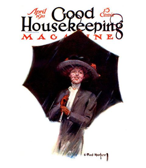 good housekeeping magazine vintage cover april 1911