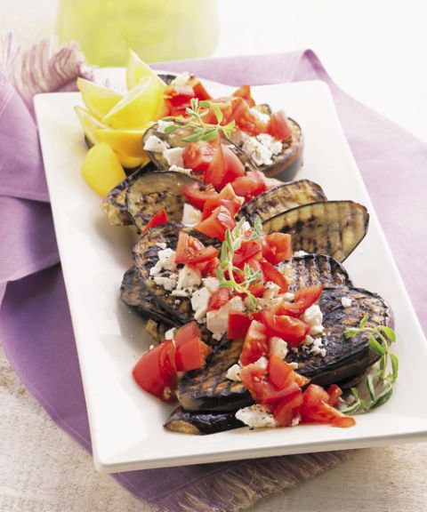 grilled eggplant with ricotta salata