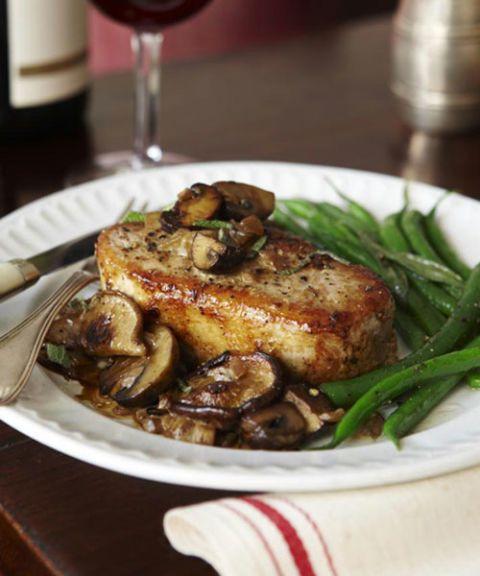 mushroom glazed pork chops