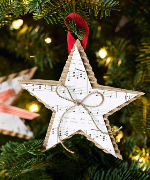 Homemade Christmas Star Decorations  54fe994bb4ee2 Music Sheet Ornament S3
