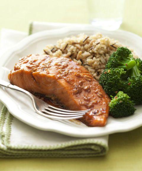 gingery salmon bake