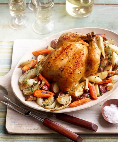 roasted chicken winter vegetables