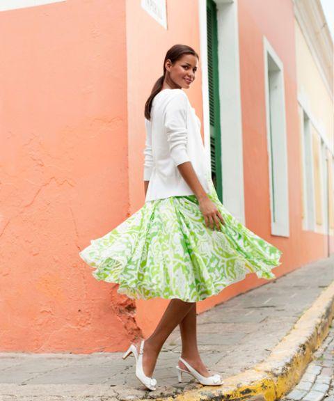 summer linen skirt