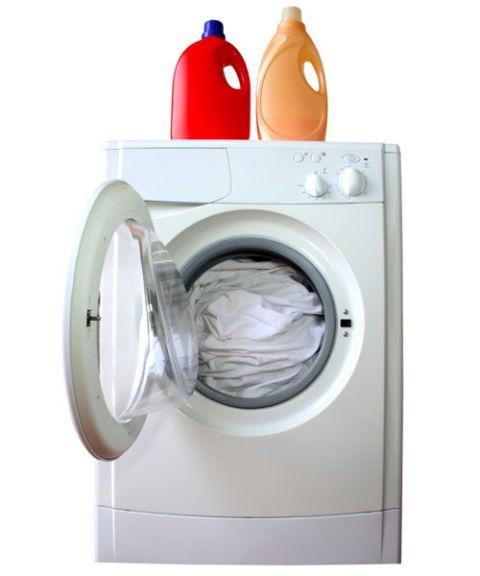 laundry machine with open front door