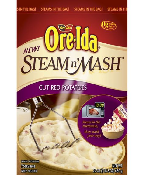 ore ida steam n' mash cut red potatoes