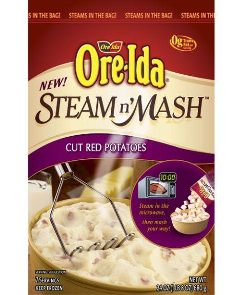 ore ida steam n' mash cut red potatoes