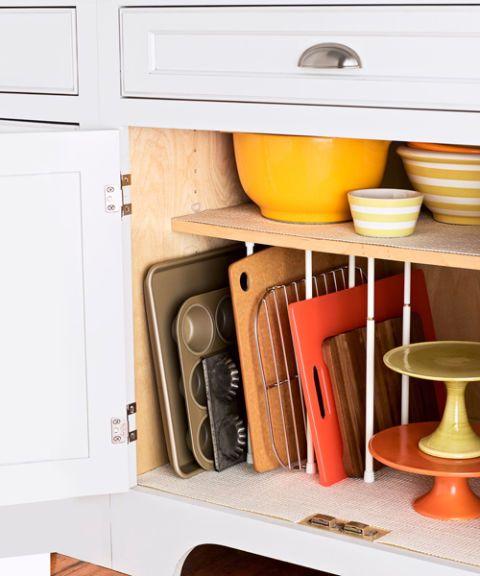 organized cookware