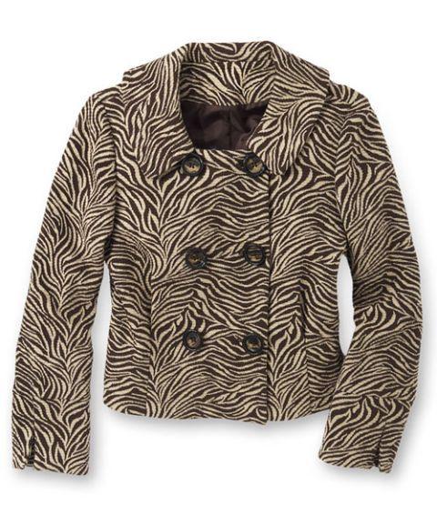 Zebra-Print Jacket