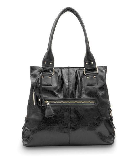 black shiny satchel from marshalls