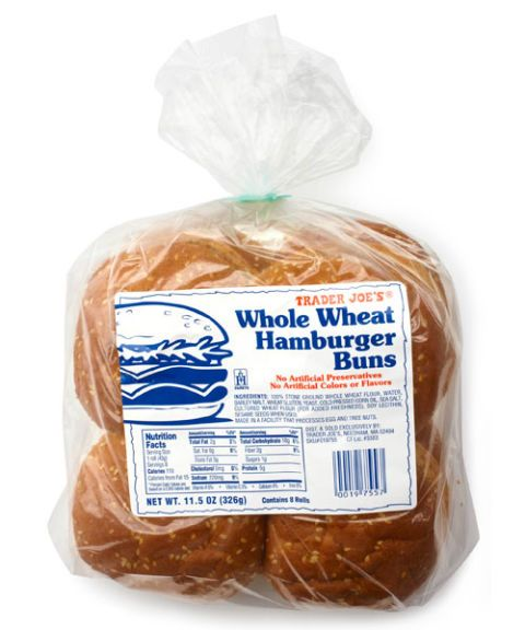 trader joes whole wheat hamburger buns