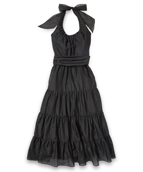 white house black market tiered halter dress