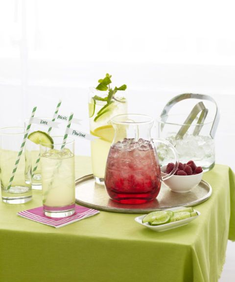 party drinks on table