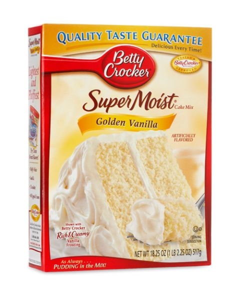 betty crocker supermoist golden vanilla cake mix
